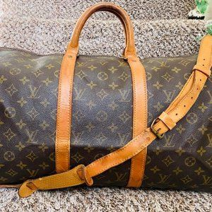 Louis Vuitton Keepall Bandouliere 55 Travel Bag